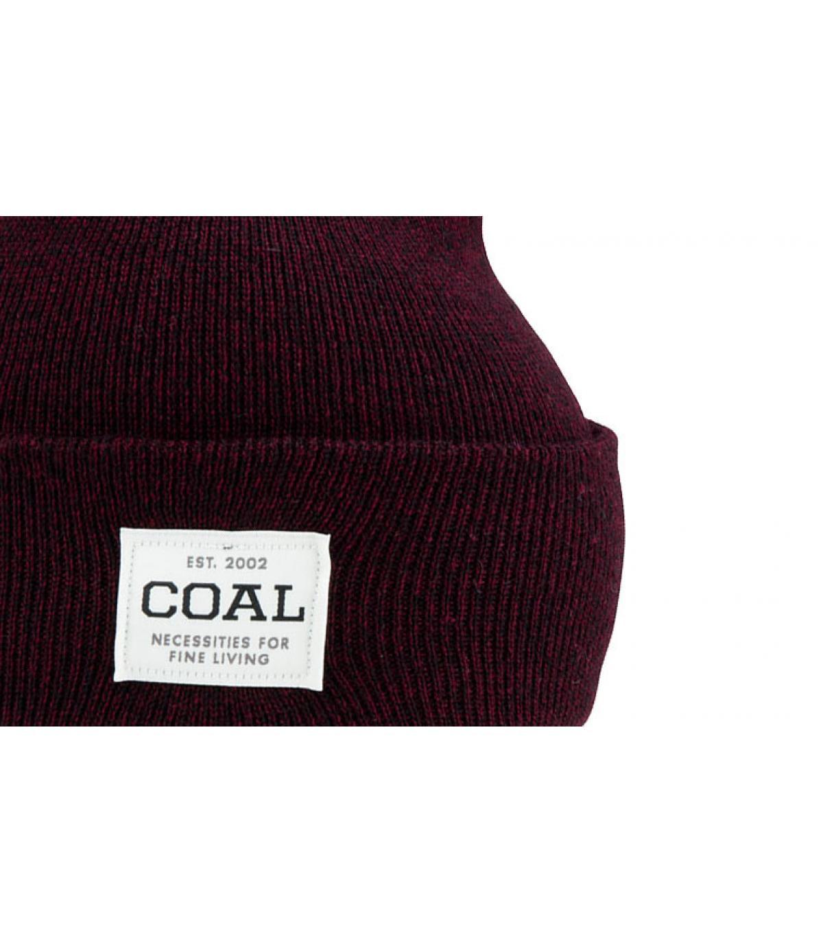 15560fbf3d3 Coal burgundy cuffed beanie - The Uniform dark burgudy by Coal. Headict