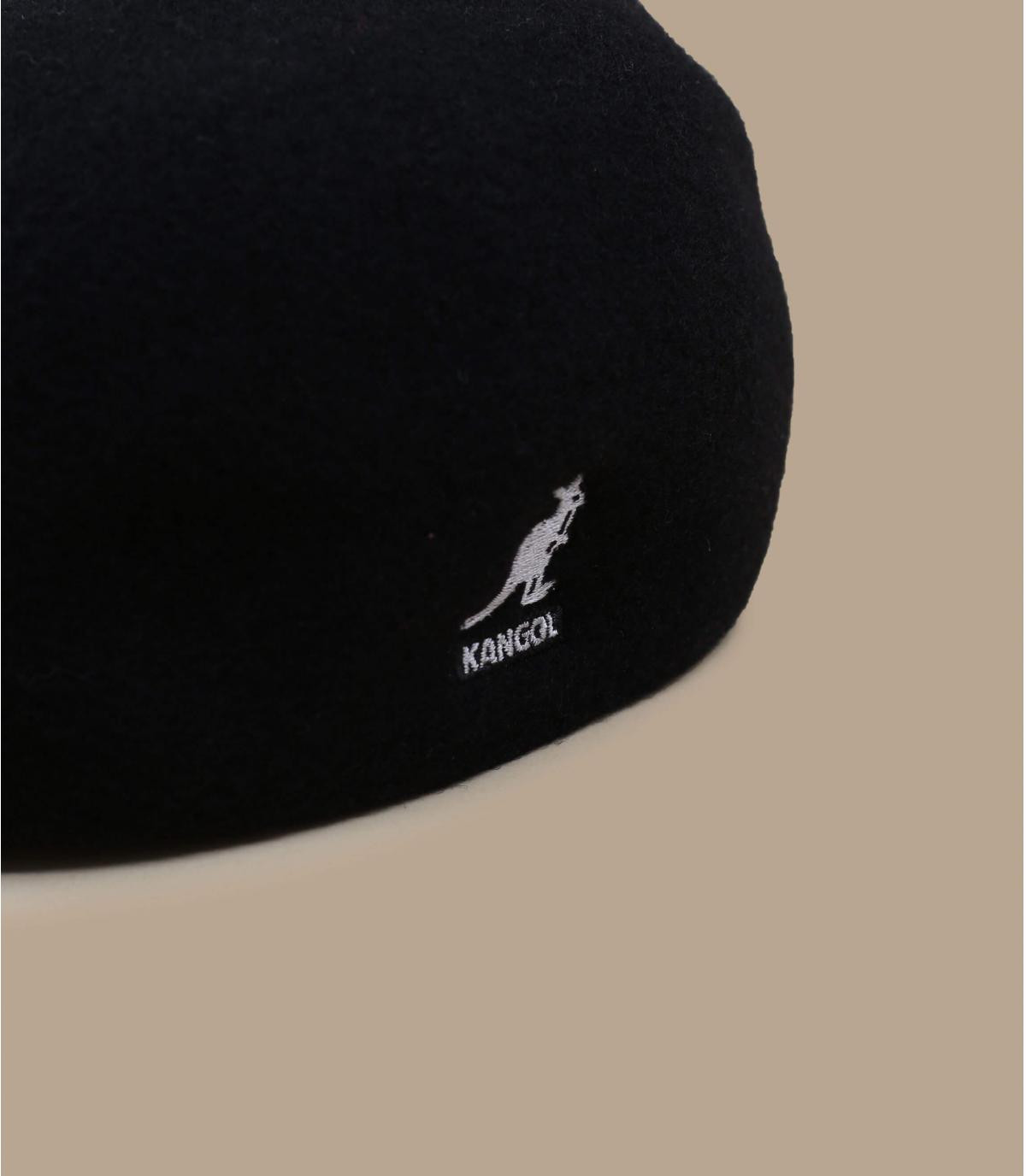 Black 507 ivy cap - 507 wool seamless black by Kangol. 7ec1471b96f