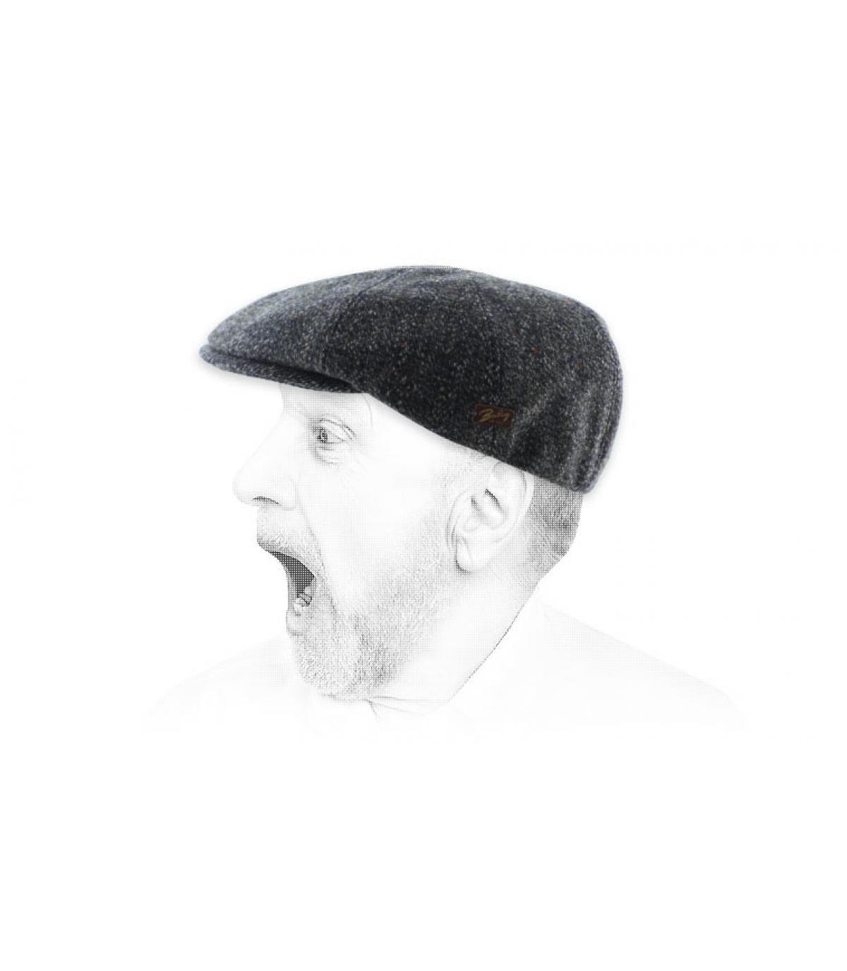 grey blue Bailey flat cap