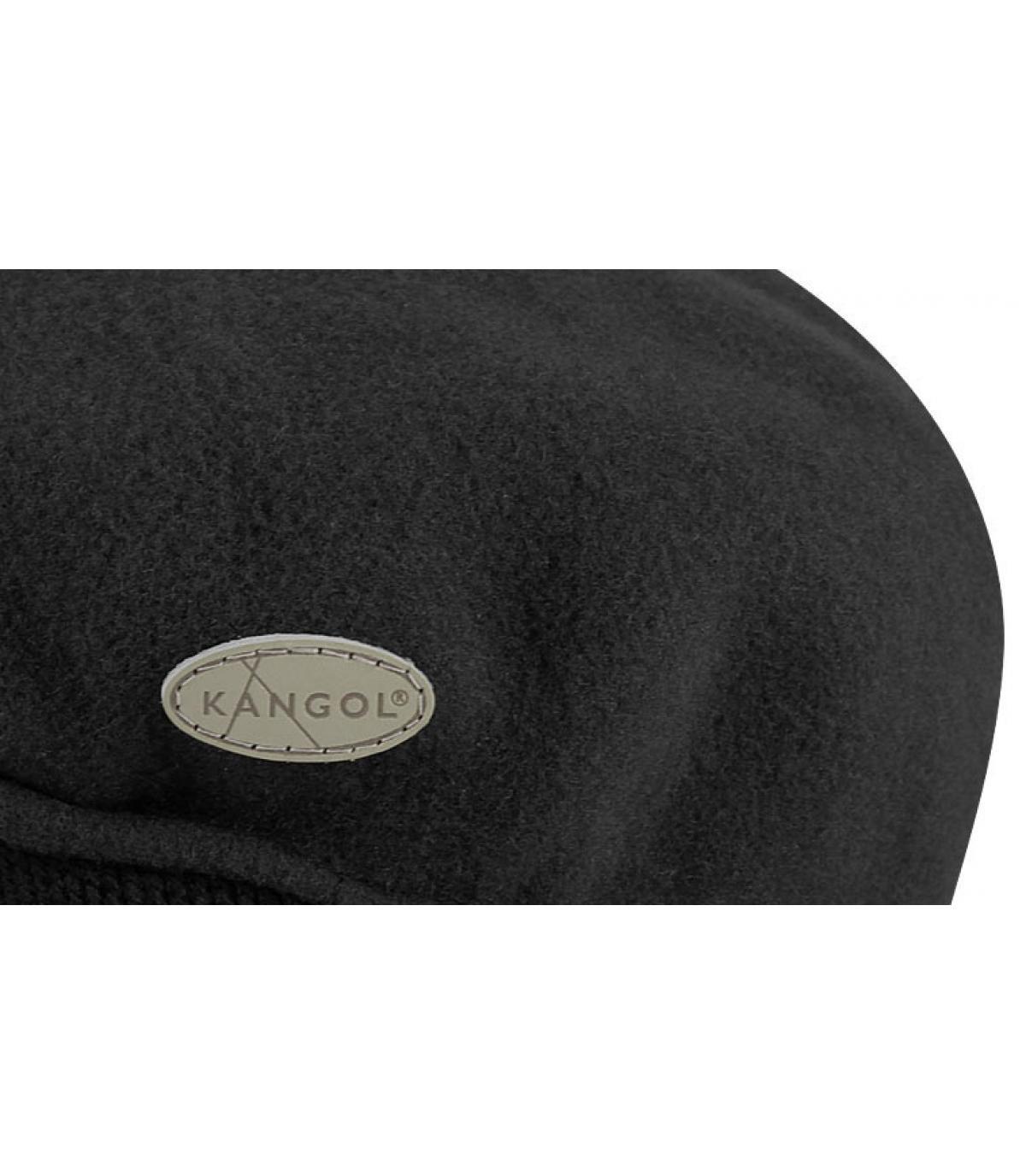 4ad1133169b Kangol. Black ivy cap earflaps. Détails 504 wool earflap black - image 3   Détails 504 wool earflap black - image ...