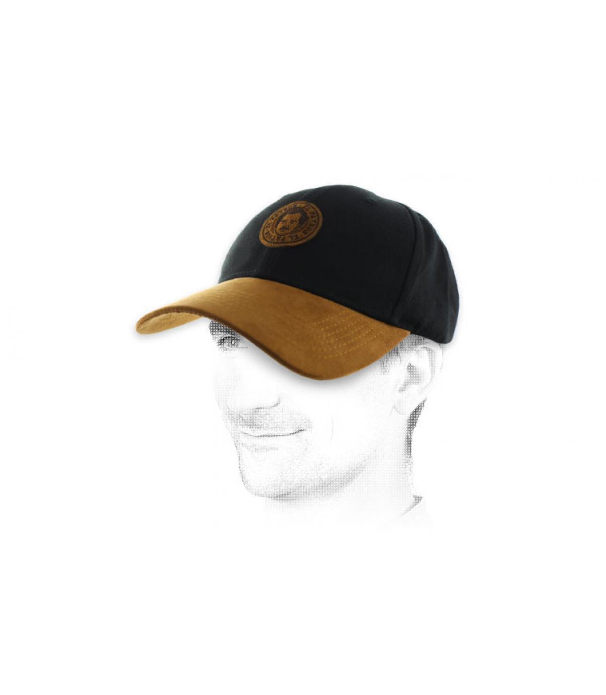 black Pablo cap suede
