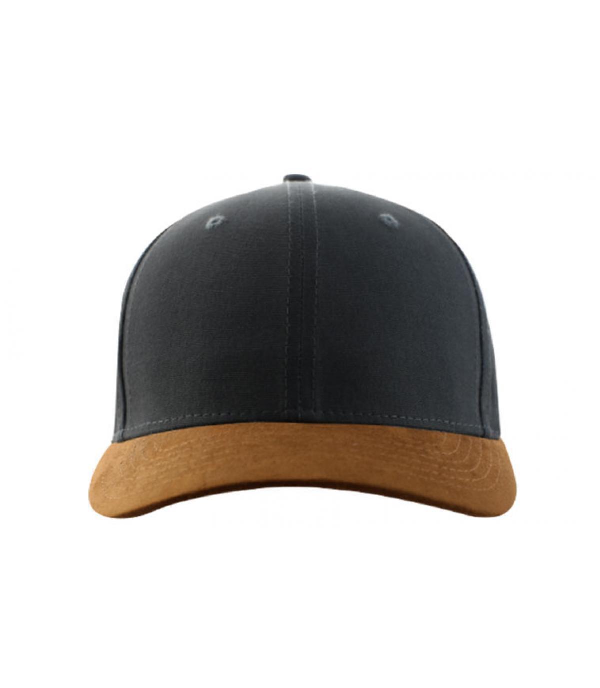grey curve cap suede peak