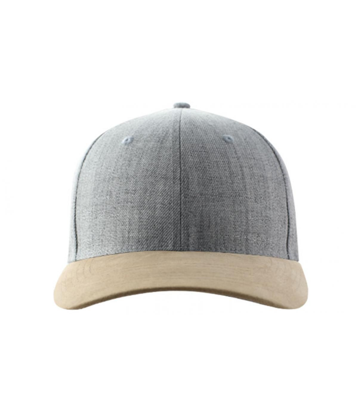 heather grey and suede curve cap