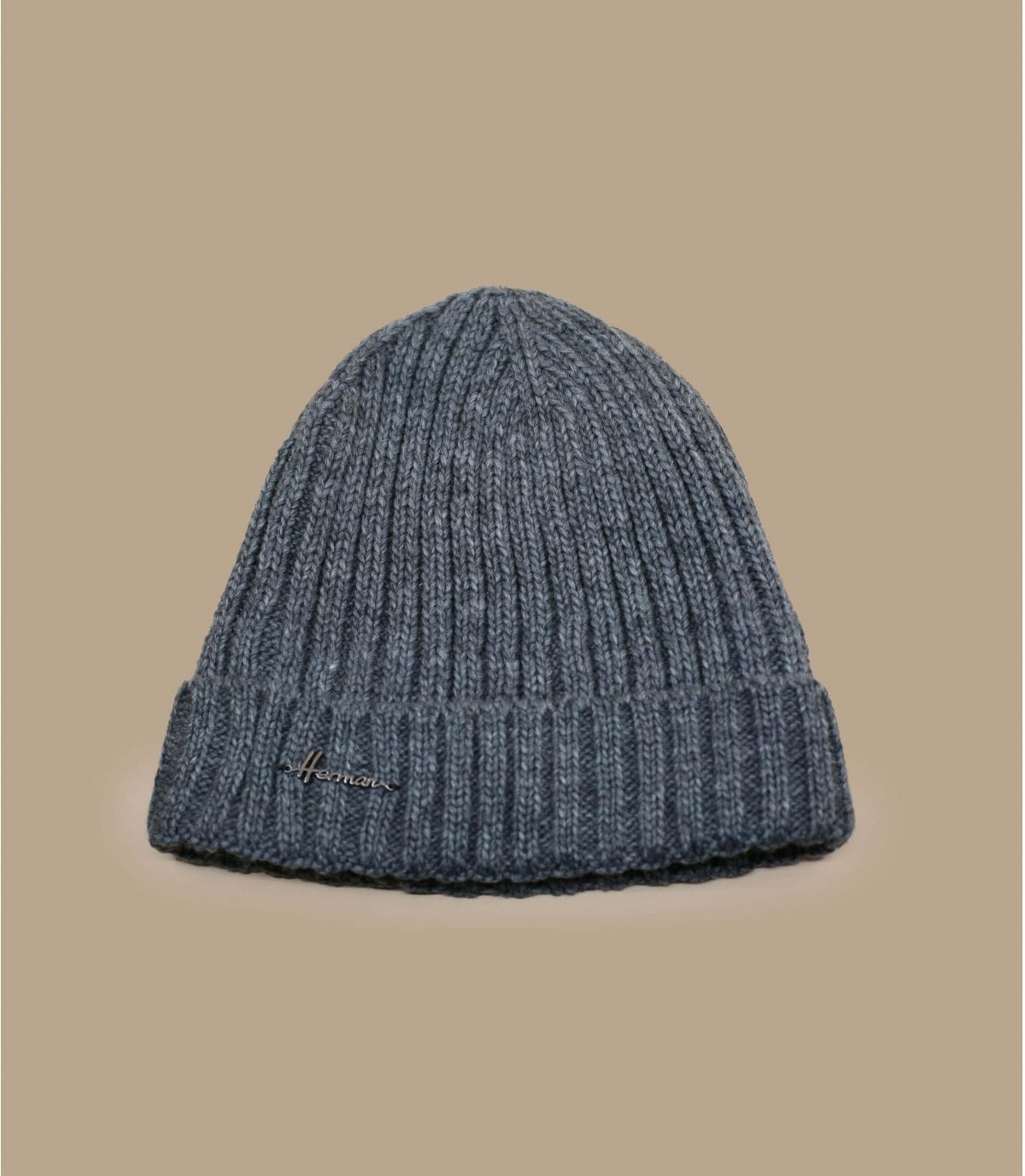 grey cuffed beanie wool