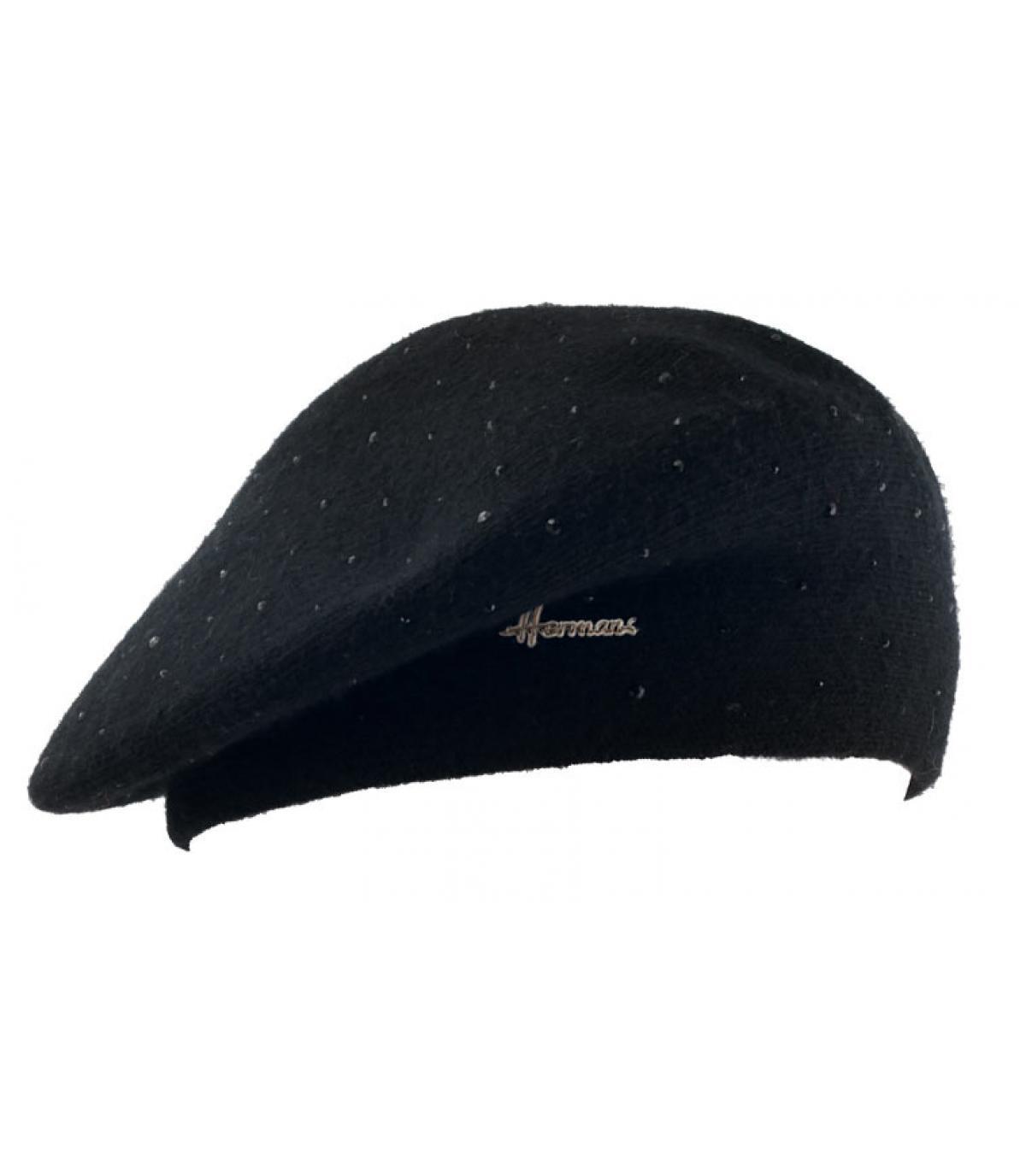 Basque beret rhinestone