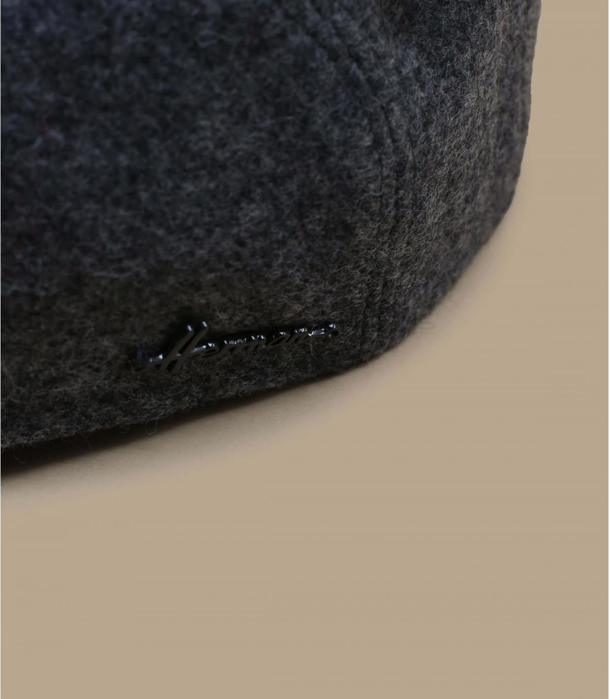 grey flat cap wool ear protection