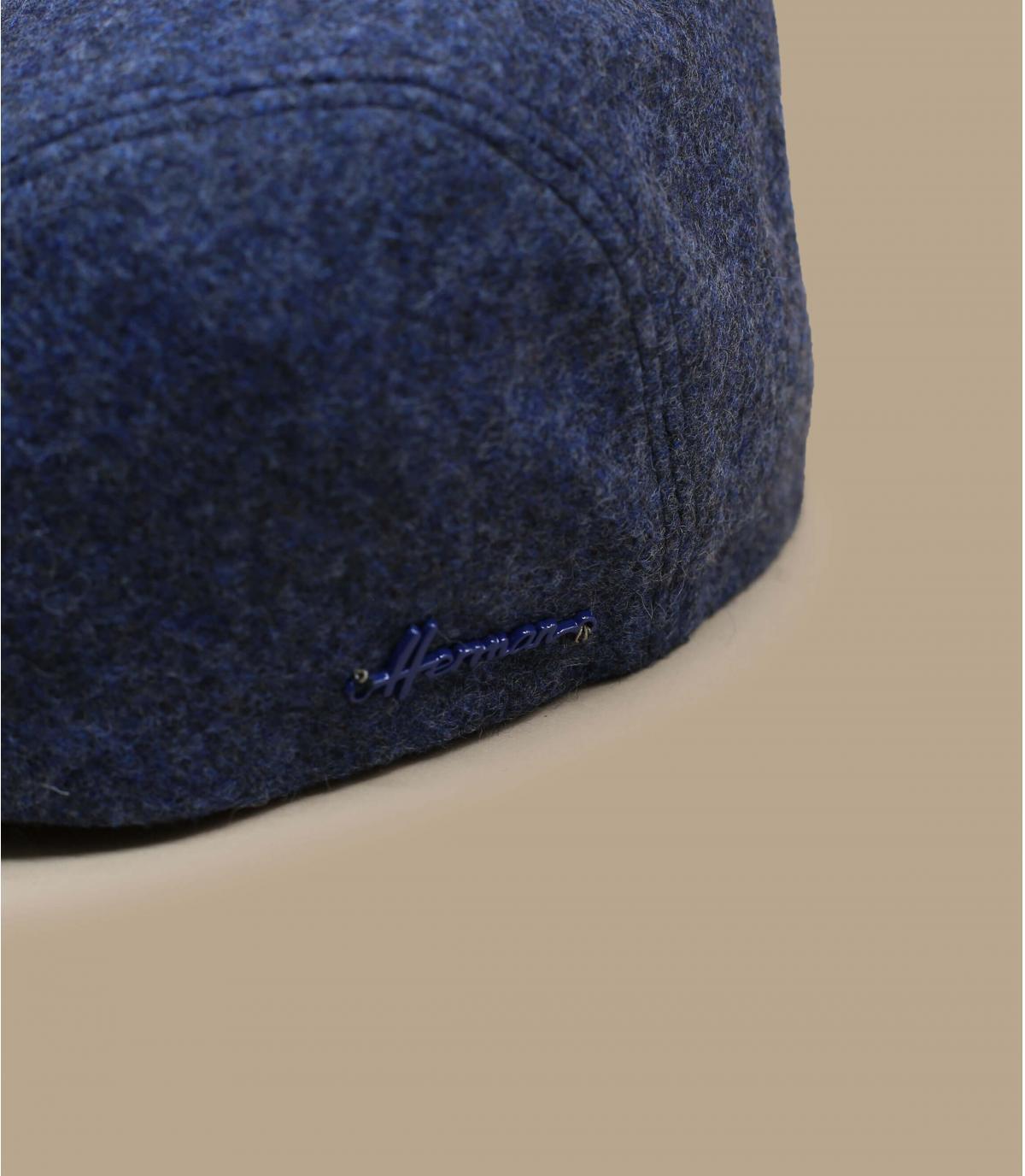 blue flat cap wool ear protection