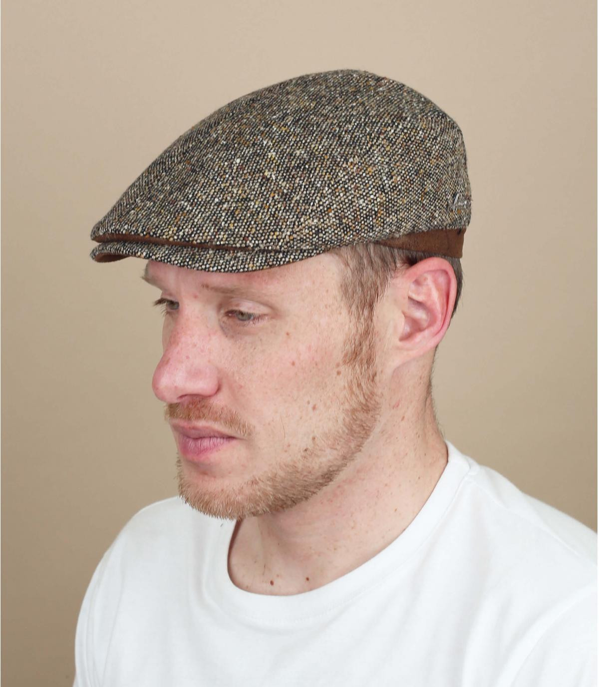 beige wool beret Herman