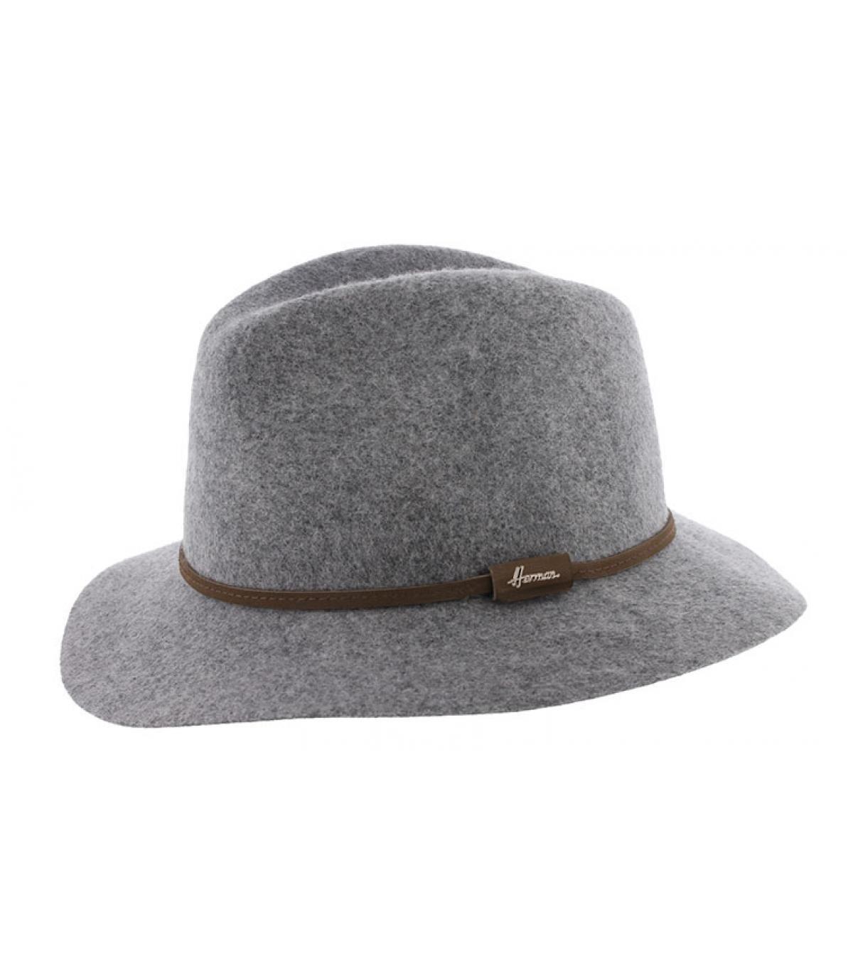 light grey fedora wool