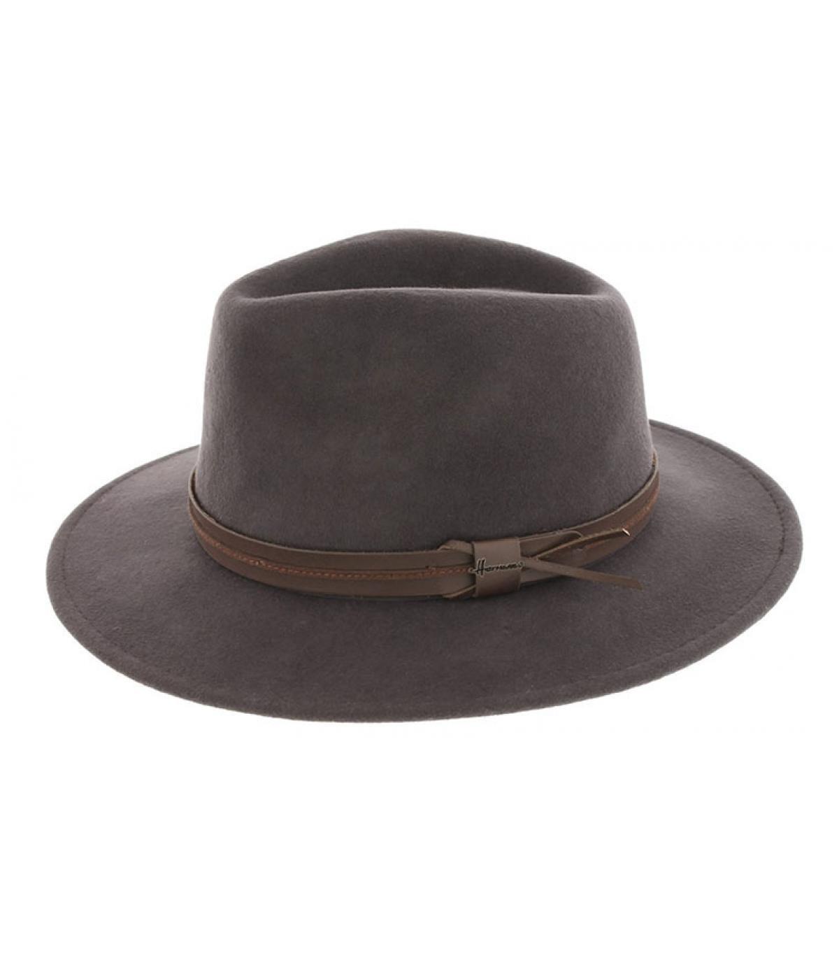 Herman grey wool fedora - Mackinsley charcoal by Herman Headwear ... 4102007088c