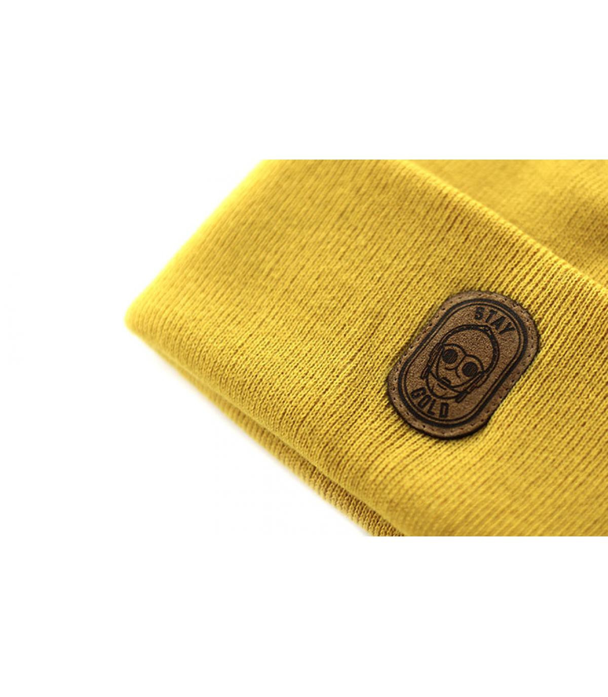 Détails Beanie Stay Gold mustard - image 3