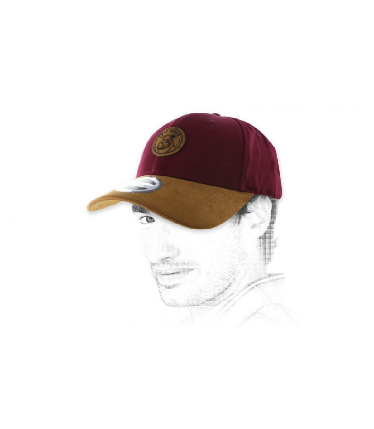 burgundy Free Hugs cap