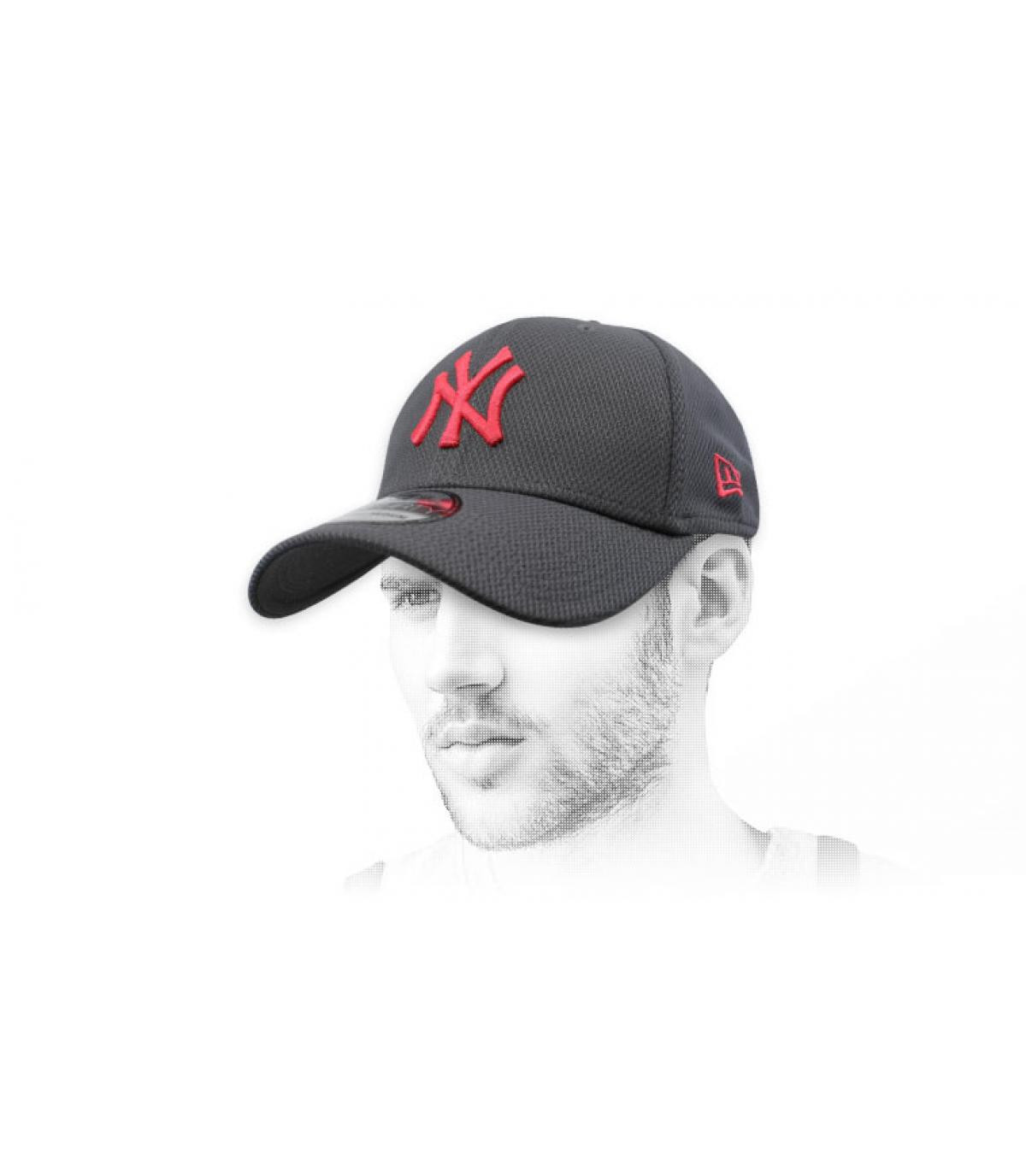 grey and red NY cap