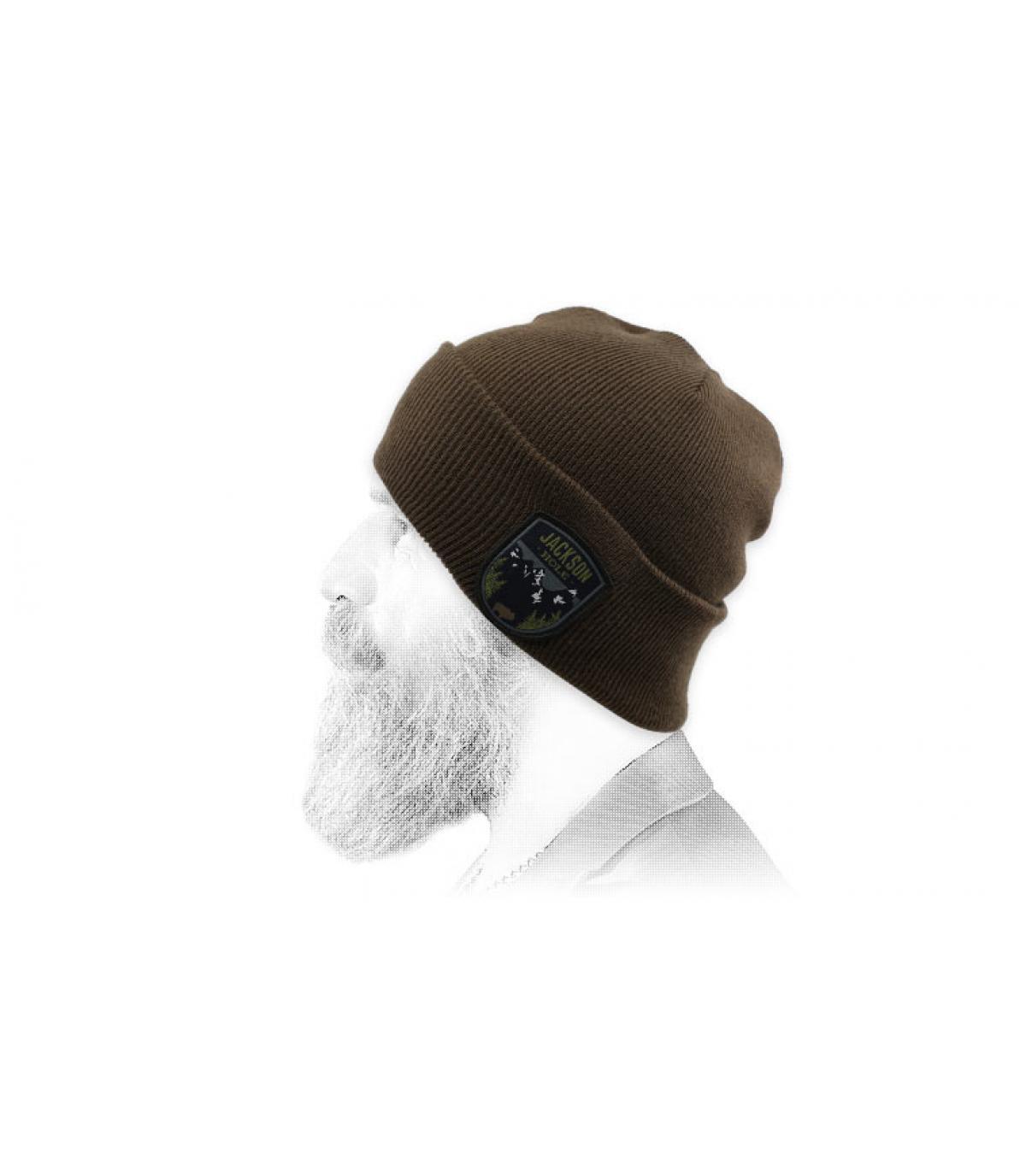 brown jackson hole beanie