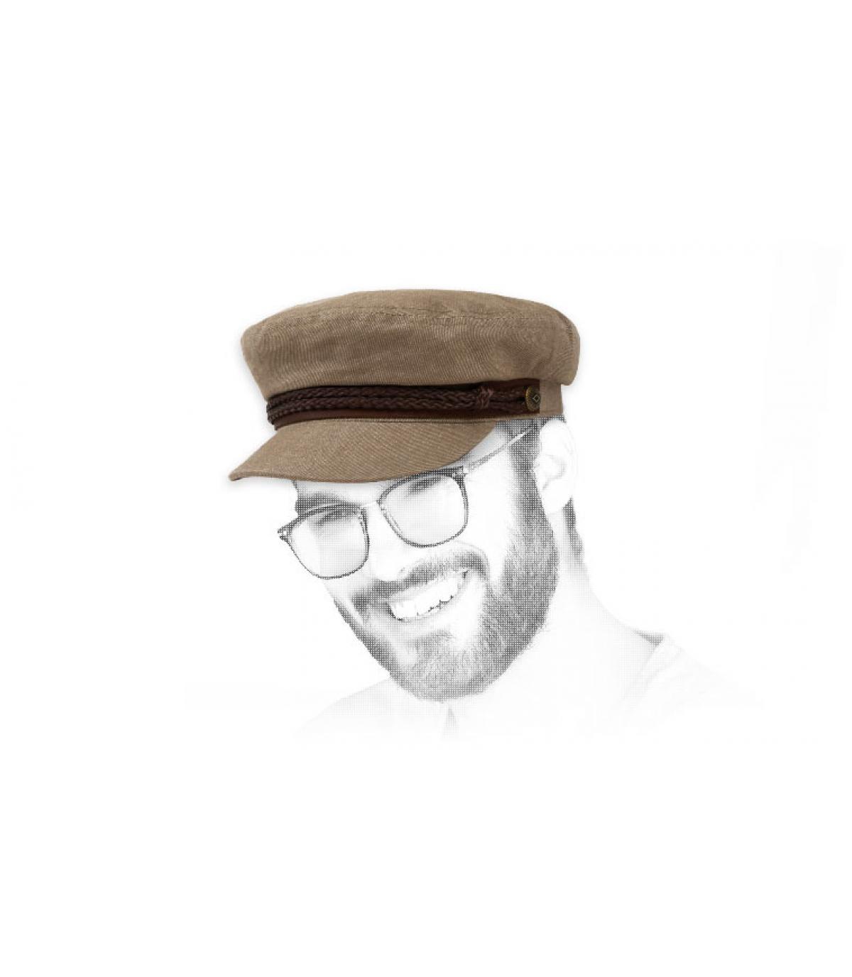 Brixton khaki fisherman cap