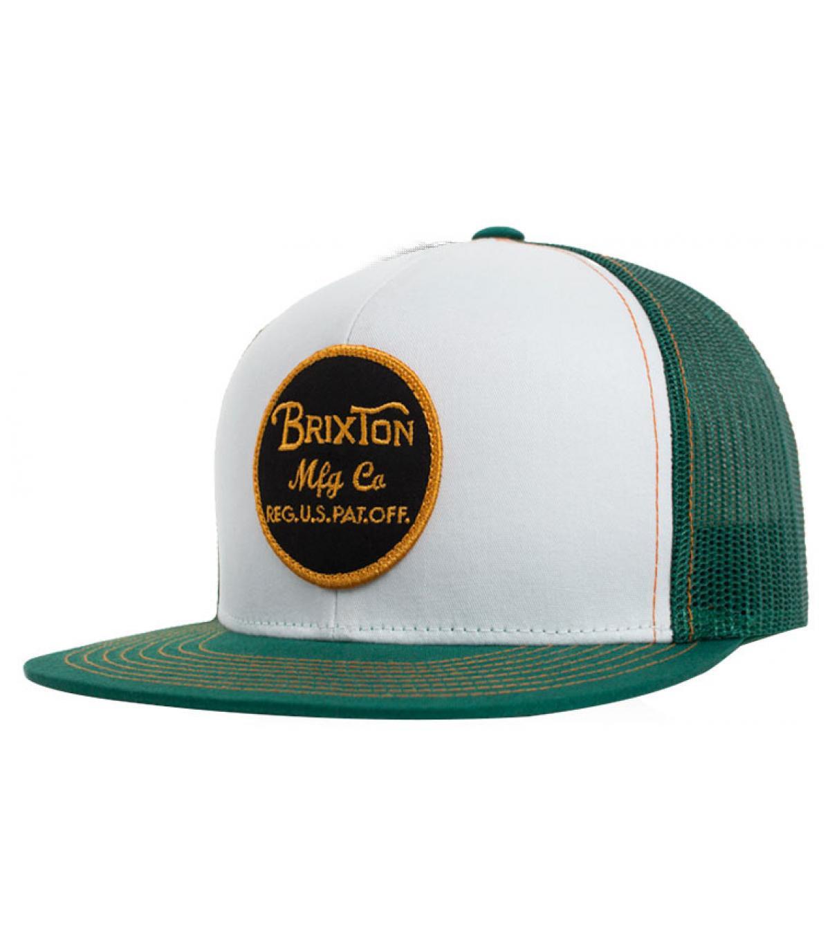 Brixton white green trucker