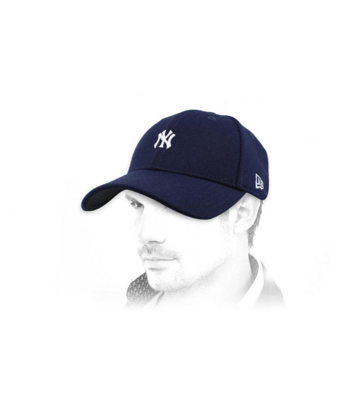 Mini logo navy blue NY cap