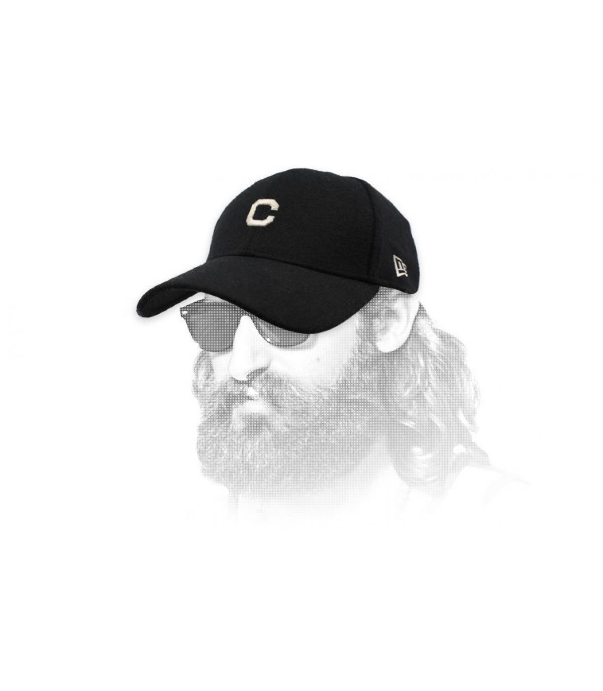 black C cap