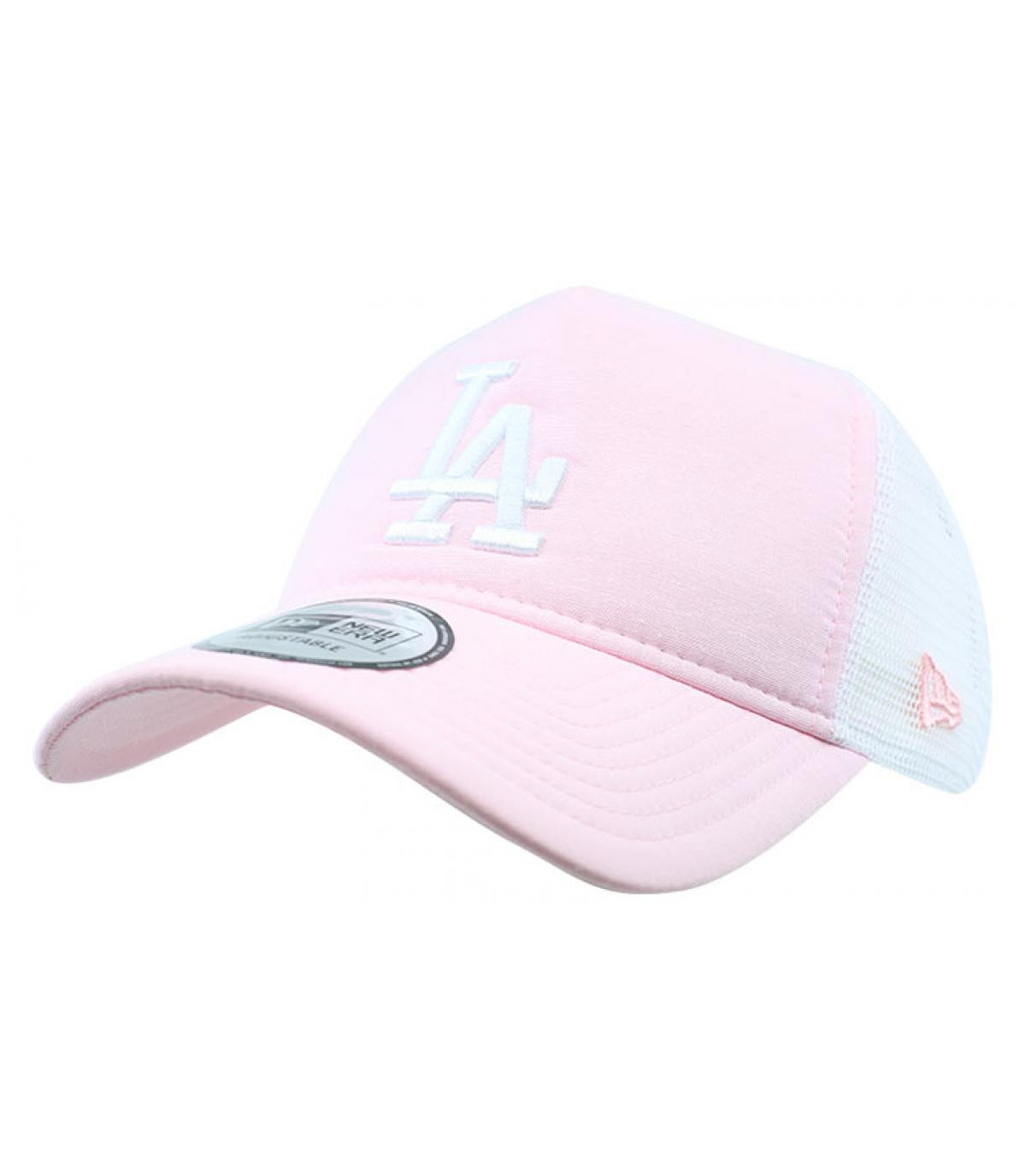 pink LA trucker