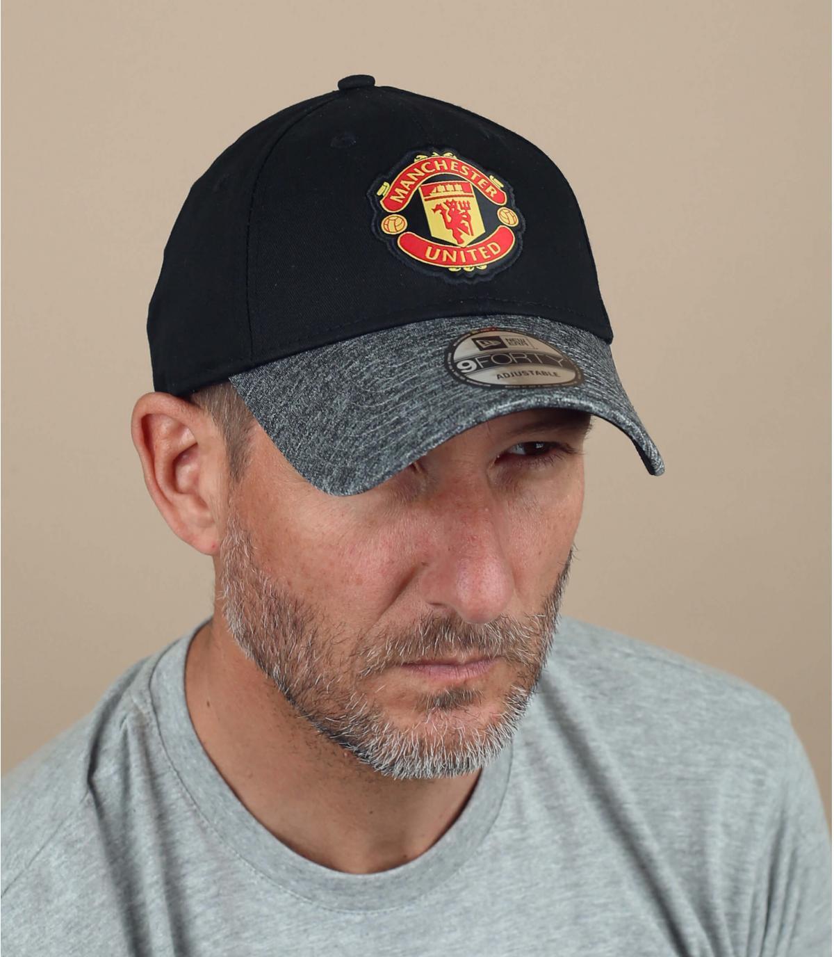 black grey Manchester cap