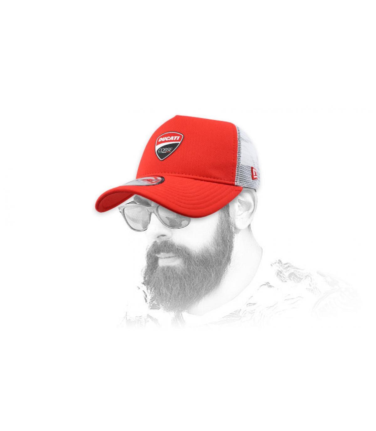red Ducati trucker