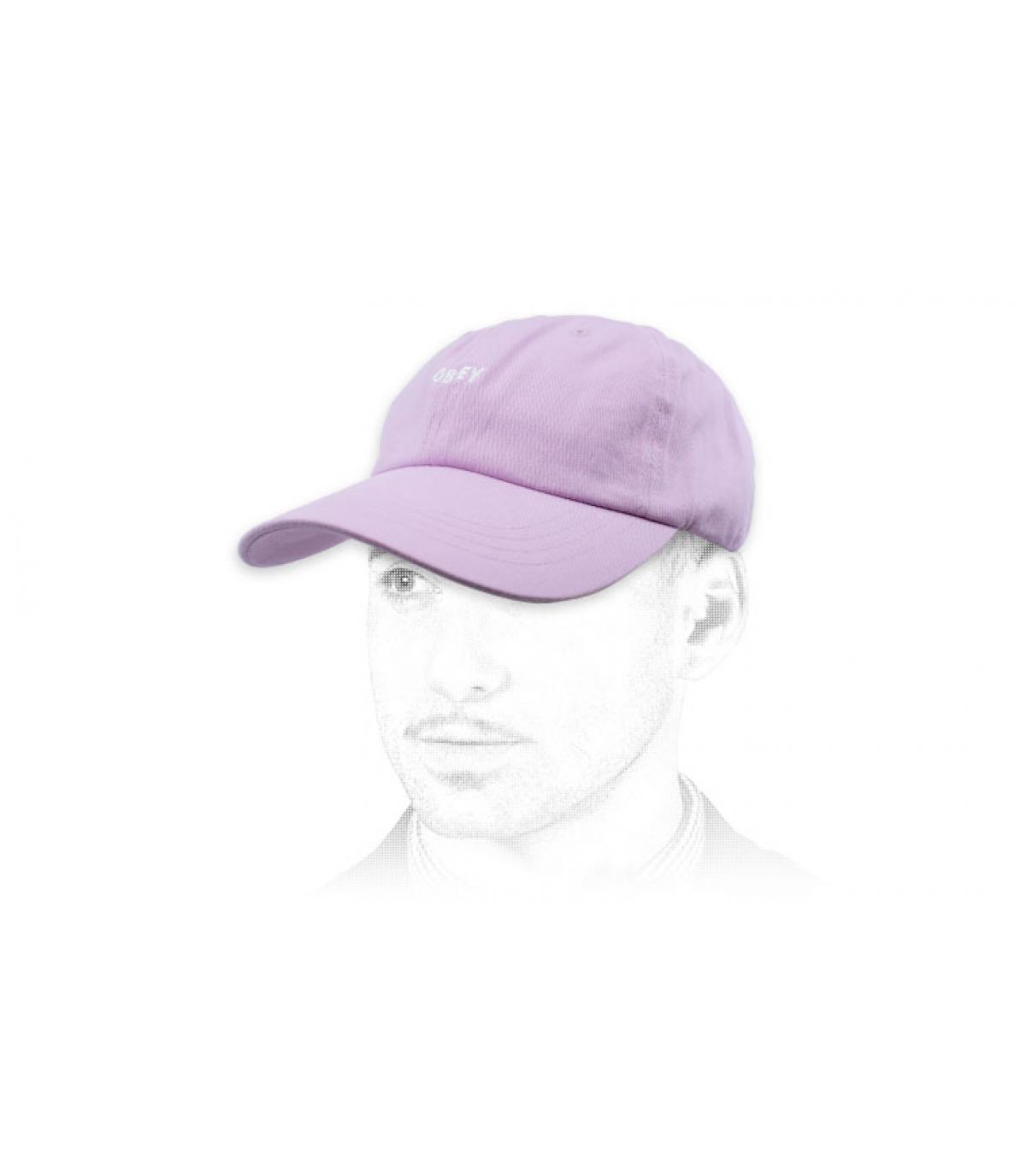 pink curve cap Obey