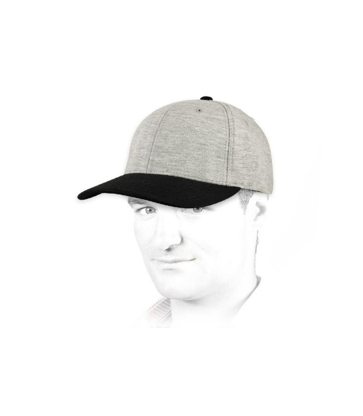 Grey black jersey cap flexfit
