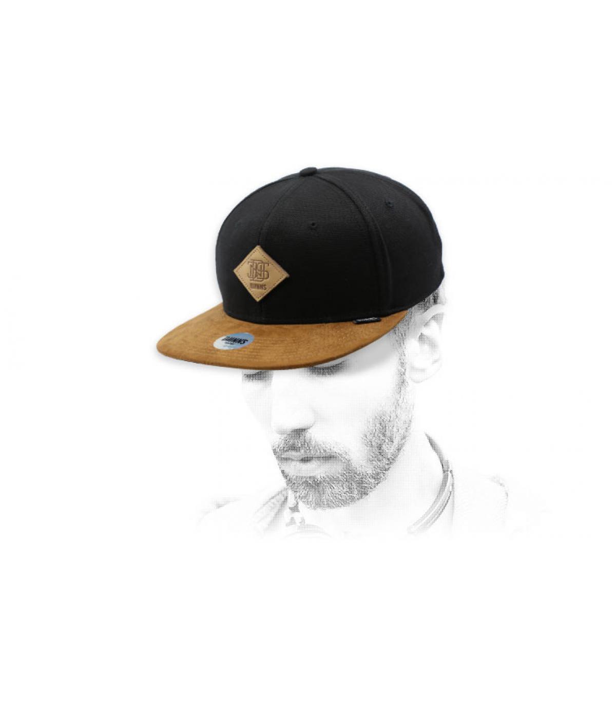 black suede snapback