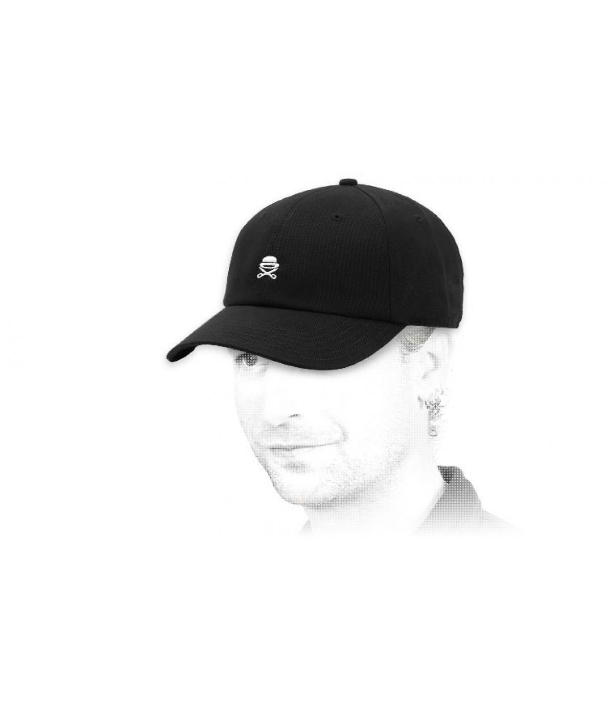 black Cayler logo curve cap