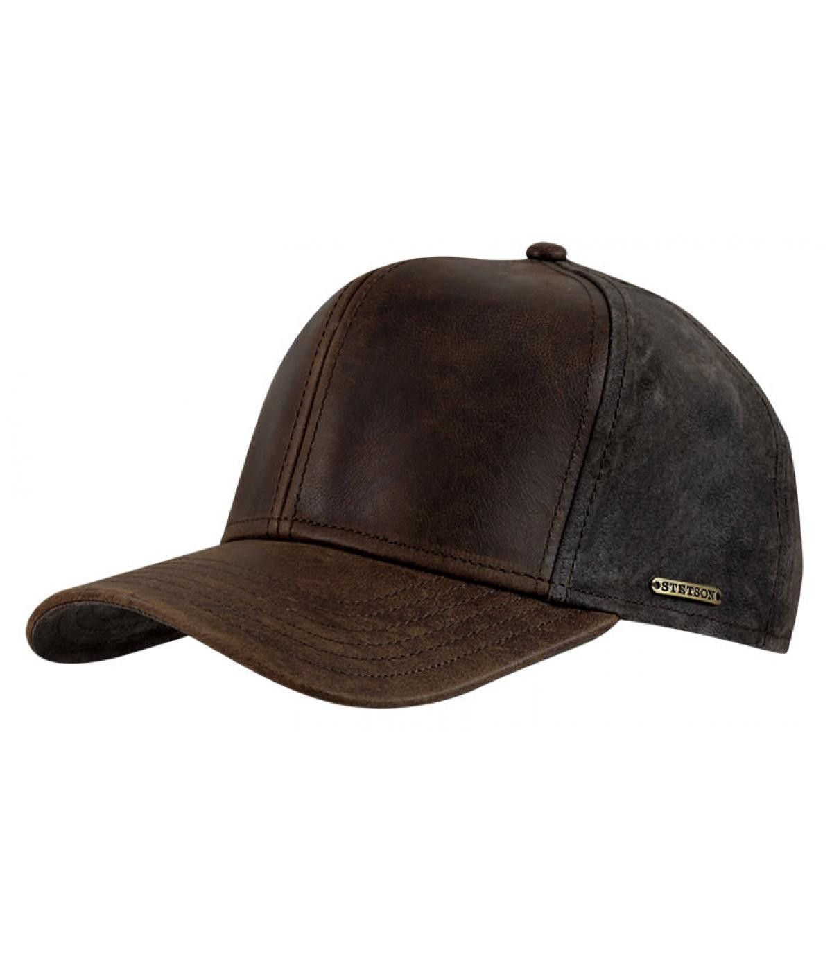 Leather campbell cap
